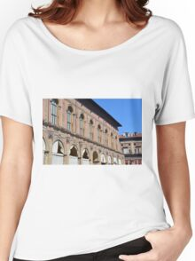 Classical buildings from Bologna with arches and decorations. Women's Relaxed Fit T-Shirt