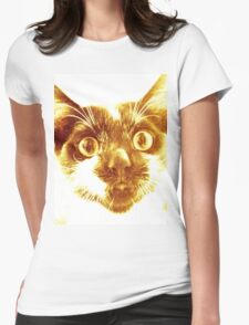 Golden cat  Womens Fitted T-Shirt