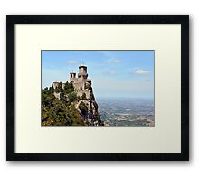 San Marino tower, landscape view. Framed Print