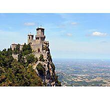 San Marino tower, landscape view. Photographic Print