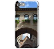 Stone buildings from Assisi with medieval arches and decorations. iPhone Case/Skin