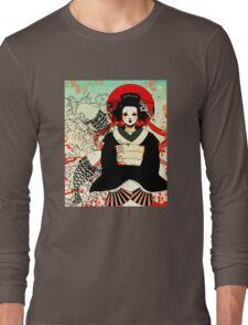 Geisha antique japan Long Sleeve T-Shirt