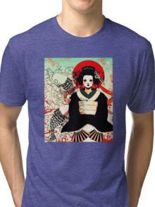 Geisha antique japan Tri-blend T-Shirt