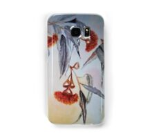 Ruby Red Gum Blossoms amongst the Black and White. Samsung Galaxy Case/Skin