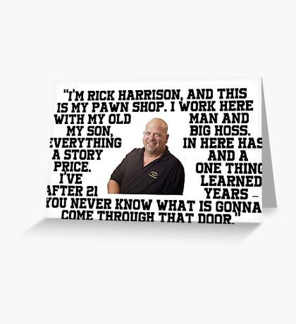 Rick Harrison Greeting Card