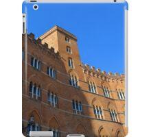 Building red brick facade from Piazza del Campo, Siena. iPad Case/Skin