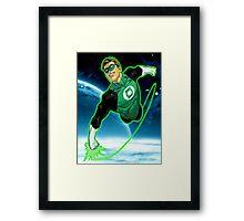 Green Lantern, Hal Jordan! Framed Print