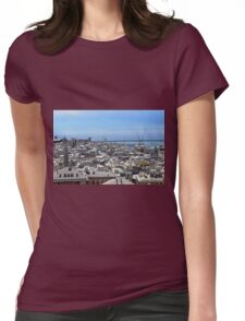 City of Genova seen from above. Womens Fitted T-Shirt