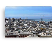City of Genova seen from above. Canvas Print