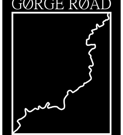 gorge road outline Sticker