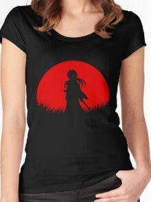 Red Moon Samurai Women's Fitted Scoop T-Shirt