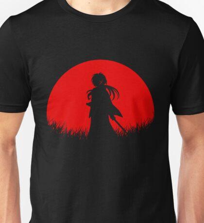 Red Moon Samurai Unisex T-Shirt