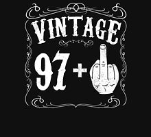Vintage middle finger salute 98th birthday gift funny 98 birthday 1918 Unisex T-Shirt
