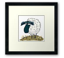 An Indifferent Sheep Framed Print
