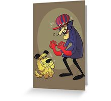Dastardly and Muttley Make Peace not War Greeting Card