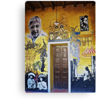 Mural from Parral, Mexico Canvas Print
