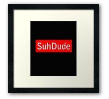 Suh Dude x Supreme Framed Print