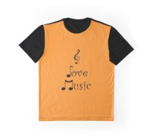 I Love Music - Tangerine Tango Graphic T-Shirt