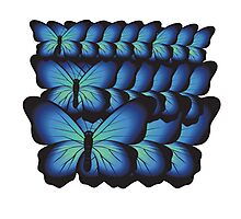 layer butterflies Photographic Print