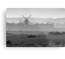 Hazy Windmill Metal Print