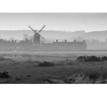 Hazy Windmill Photographic Print