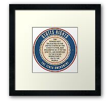 States Rights Framed Print