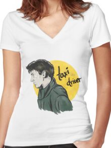 Taxi Driver Women's Fitted V-Neck T-Shirt