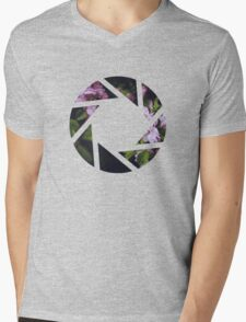 Aperture Floral Mens V-Neck T-Shirt