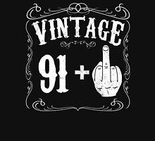 Vintage middle finger salute 92nd birthday gift funny 92 birthday 1924 Unisex T-Shirt