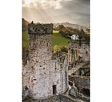 Sunlight over Conwy Photographic Print