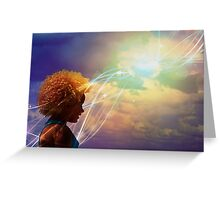 Lucy in the sky with diamonds Greeting Card
