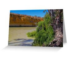 Murray's red cliffs Greeting Card