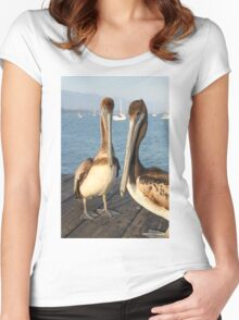California Pelicans Women's Fitted Scoop T-Shirt