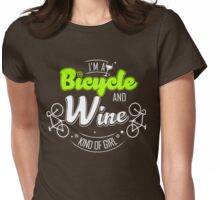 Bicycle and wine Womens Fitted T-Shirt