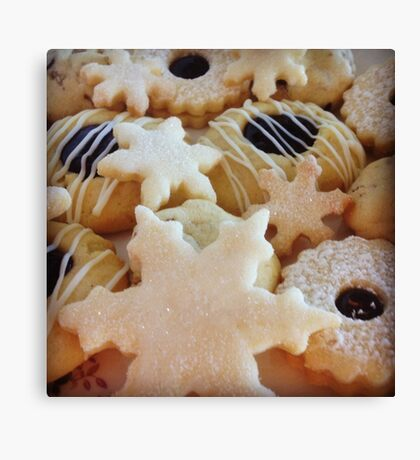 Traditional handmade Christmas biscuits Canvas Print