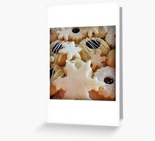 Traditional handmade Christmas biscuits Greeting Card