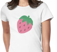 Big Strawberry Repeat Pattern Womens Fitted T-Shirt