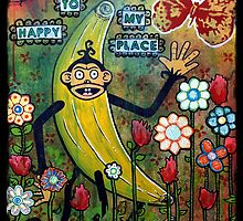 Welcome To My Happy Place Mixed Media by chongolio