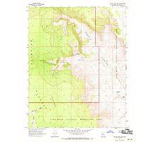 USGS TOPO Map Arizona AZ Yellow John Mtn 314203 1967 24000 Photographic Print