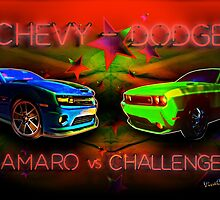 Challenger vs Camaro Under the Big Tent by ChasSinklier
