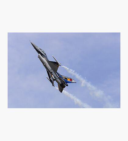Belgian F-16 Climbs Photographic Print