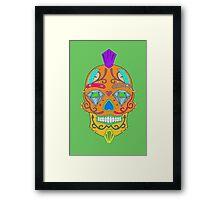 "skull-faced Canadian ""the best"" Framed Print"