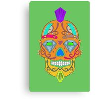 "skull-faced Canadian ""the best"" Canvas Print"