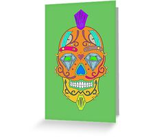 "skull-faced Canadian ""the best"" Greeting Card"