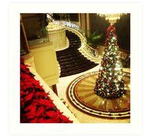 Hotel Lobby Traditional Christmas Art Print