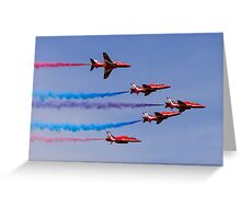 Purple, Red and Blue Greeting Card