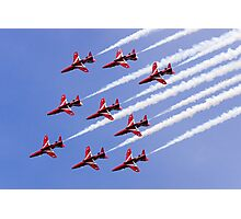 Red Arrows Forming Up Photographic Print
