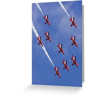Arrows Dive Greeting Card