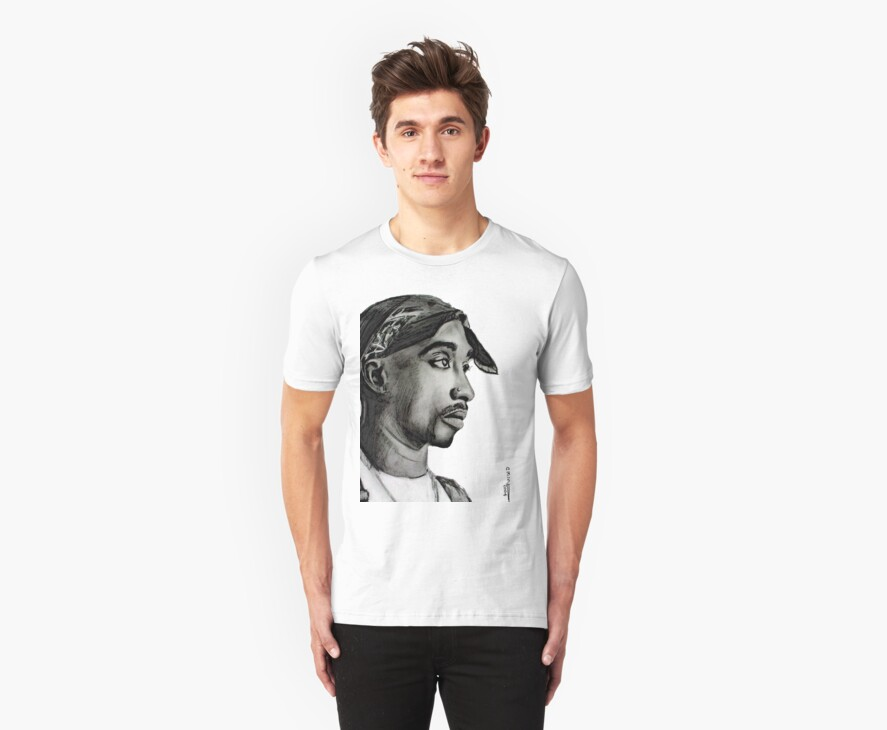 Tupac drawing by paintingsbycr10