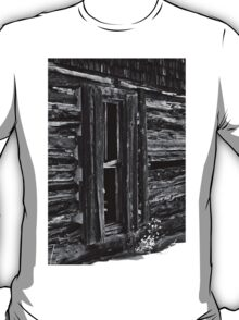 Window On Another Time In Black And White T-Shirt